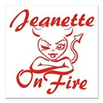 Jeanette On Fire Square Car Magnet 3
