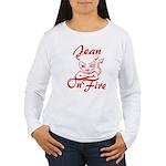 Jean On Fire Women's Long Sleeve T-Shirt