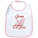 Jean On Fire Bib