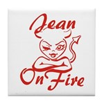 Jean On Fire Tile Coaster