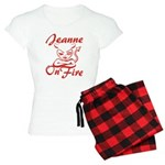Jeanne On Fire Women's Light Pajamas