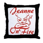 Jeanne On Fire Throw Pillow