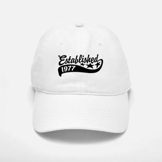 Established 1977 Baseball Baseball Cap
