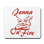 Jenna On Fire Mousepad