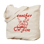 Jennifer On Fire Tote Bag
