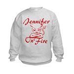 Jennifer On Fire Kids Sweatshirt