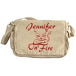 Jennifer On Fire Messenger Bag