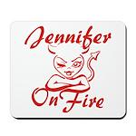 Jennifer On Fire Mousepad