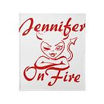 Jennifer On Fire Throw Blanket
