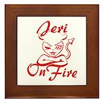 Jeri On Fire Framed Tile