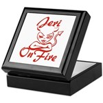 Jeri On Fire Keepsake Box
