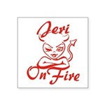 Jeri On Fire Square Sticker 3