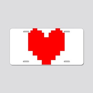 Undertale Heart Aluminum License Plate