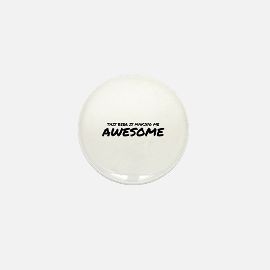 Beer Awesome Mini Button