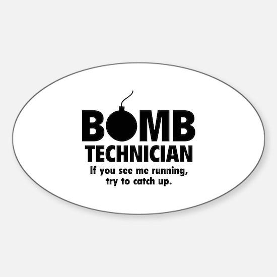 Bomb Technician Sticker (Oval)