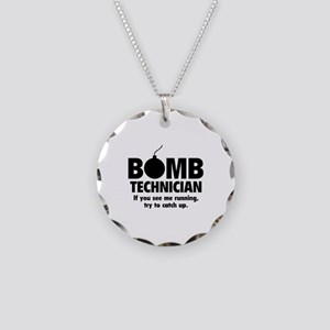 Bomb Technician Necklace Circle Charm