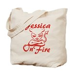 Jessica On Fire Tote Bag