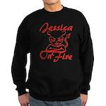 Jessica On Fire Sweatshirt (dark)