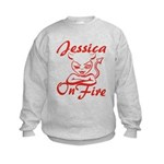 Jessica On Fire Kids Sweatshirt