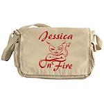 Jessica On Fire Messenger Bag