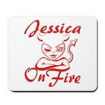 Jessica On Fire Mousepad