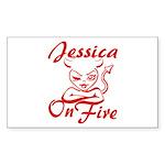 Jessica On Fire Sticker (Rectangle)
