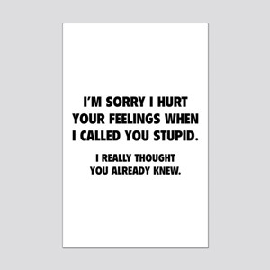 I'm Sorry Mini Poster Print