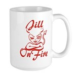 Jill On Fire Large Mug