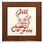 Jill On Fire Framed Tile