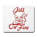 Jill On Fire Mousepad