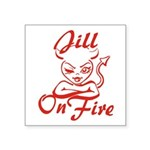 Jill On Fire Square Sticker 3