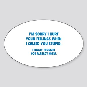 I'm Sorry Sticker (Oval)