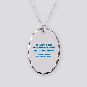 I'm Sorry Necklace Oval Charm