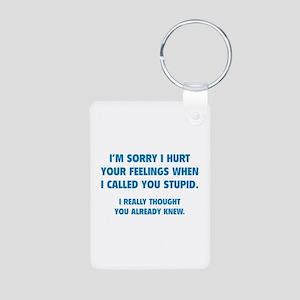 I'm Sorry Aluminum Photo Keychain
