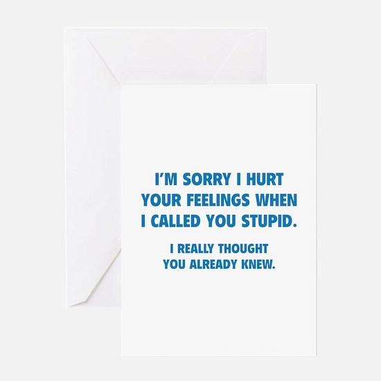 I'm Sorry Greeting Card