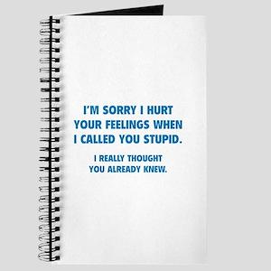 I'm Sorry Journal