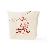 Jo On Fire Tote Bag