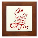 Jo On Fire Framed Tile