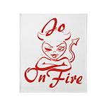 Jo On Fire Throw Blanket