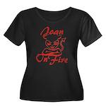 Joan On Fire Women's Plus Size Scoop Neck Dark T-S