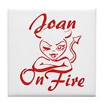 Joan On Fire Tile Coaster