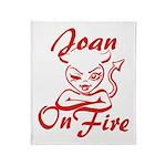 Joan On Fire Throw Blanket