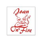 Joan On Fire Square Sticker 3