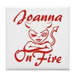 Joanna On Fire Tile Coaster
