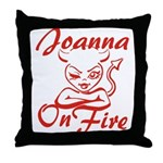 Joanna On Fire Throw Pillow