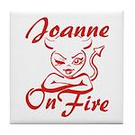 Joanne On Fire Tile Coaster