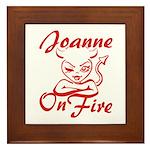 Joanne On Fire Framed Tile