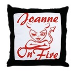 Joanne On Fire Throw Pillow