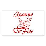 Joanne On Fire Sticker (Rectangle)