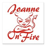 Joanne On Fire Square Car Magnet 3